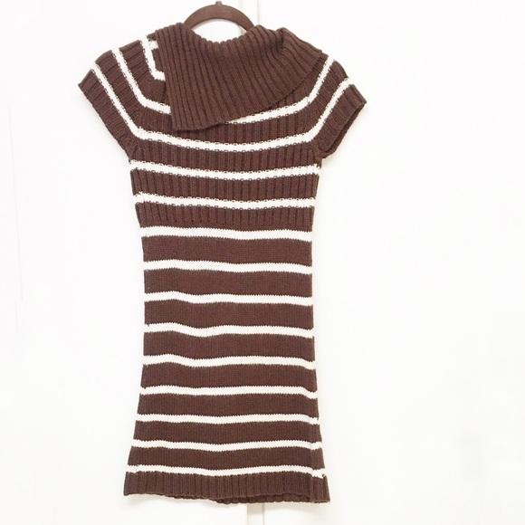 Blue Heart Dresses & Skirts - Blue Heart Brown & Cream Striped Sweater Dress